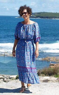 NWT Plus Size Paper Fig BOHO DRESS Blue /& Pink to fit Sizes 12,14,16,18,20