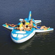 NEW GIANT HUGE INFLATABLE AIRPLANE JET SPEEDBOAT FLOATING ISLAND LAKE RIVER RAFT