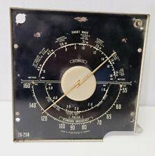 Antique Zenith Console Radio Dial With Brass Z Pointer