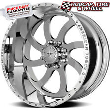 "AMERICAN FORCE BLADE SS8 MIRROR POLISHED 24""x12 WHEELS RIMS 8 LUG (set of 4) NEW"