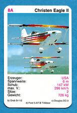 CARDS AEREI - Figurina-Sticker - 8A - CHRISTEN EAGLE II