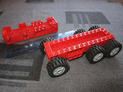 Lego Technic Large BLACK Super Truck Base 6 Spoked GREY Wheels Chassis