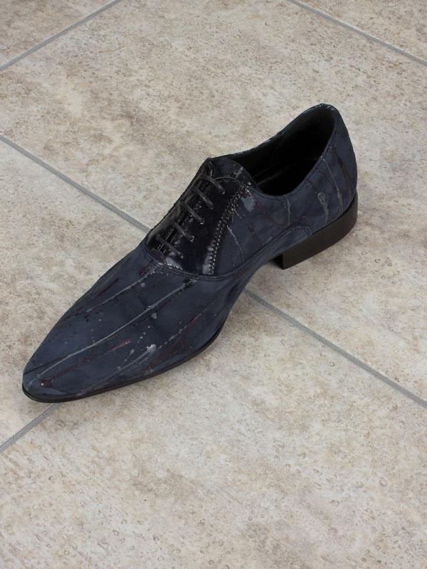 Scarpe casual da uomo  Eveet Suede Italian Shoes Sizes 6,12 Blue