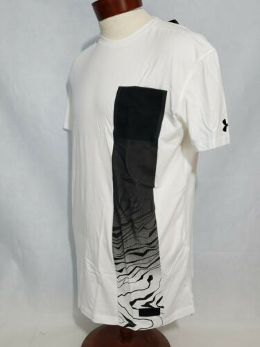 Under Armour Mens casual graphic t shirt tee UA pursuit Pocket NWT White Large