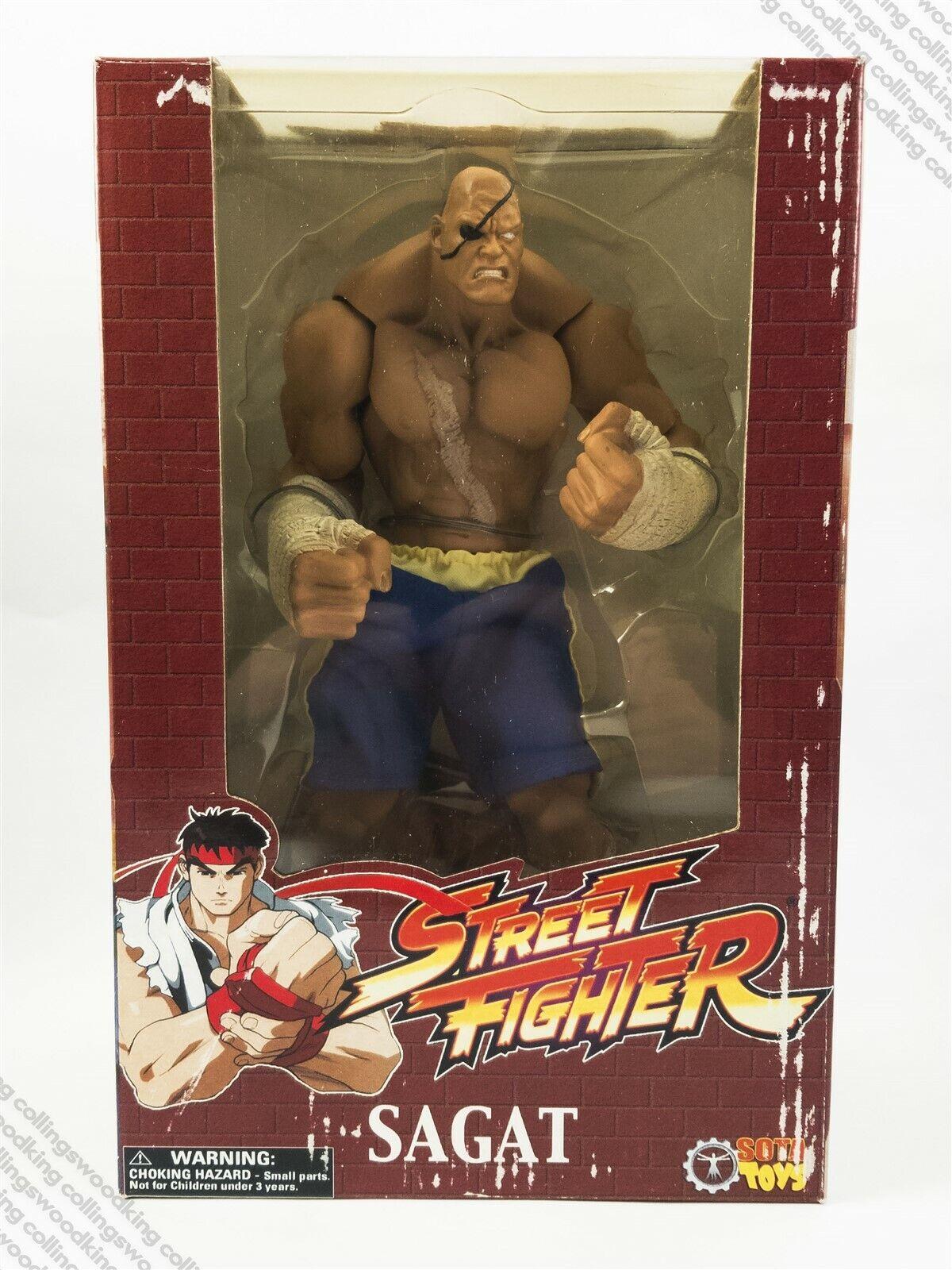 2005  SOTA rue Fighter rougeocast series Sagat 10  action figure MISB - Capcom  bonne qualité