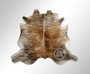 Image Is Loading New Argentinian Cowhide Rug Medium Brindle Leather Cow