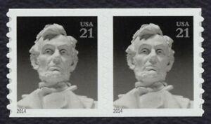 #4861 21c Abraham Lincoln, Bobina Par, Nuevo Cualquier 5=