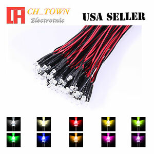 ONE PRE WIRED LED  12 VOLT PINK 12V DC FREE RET USA