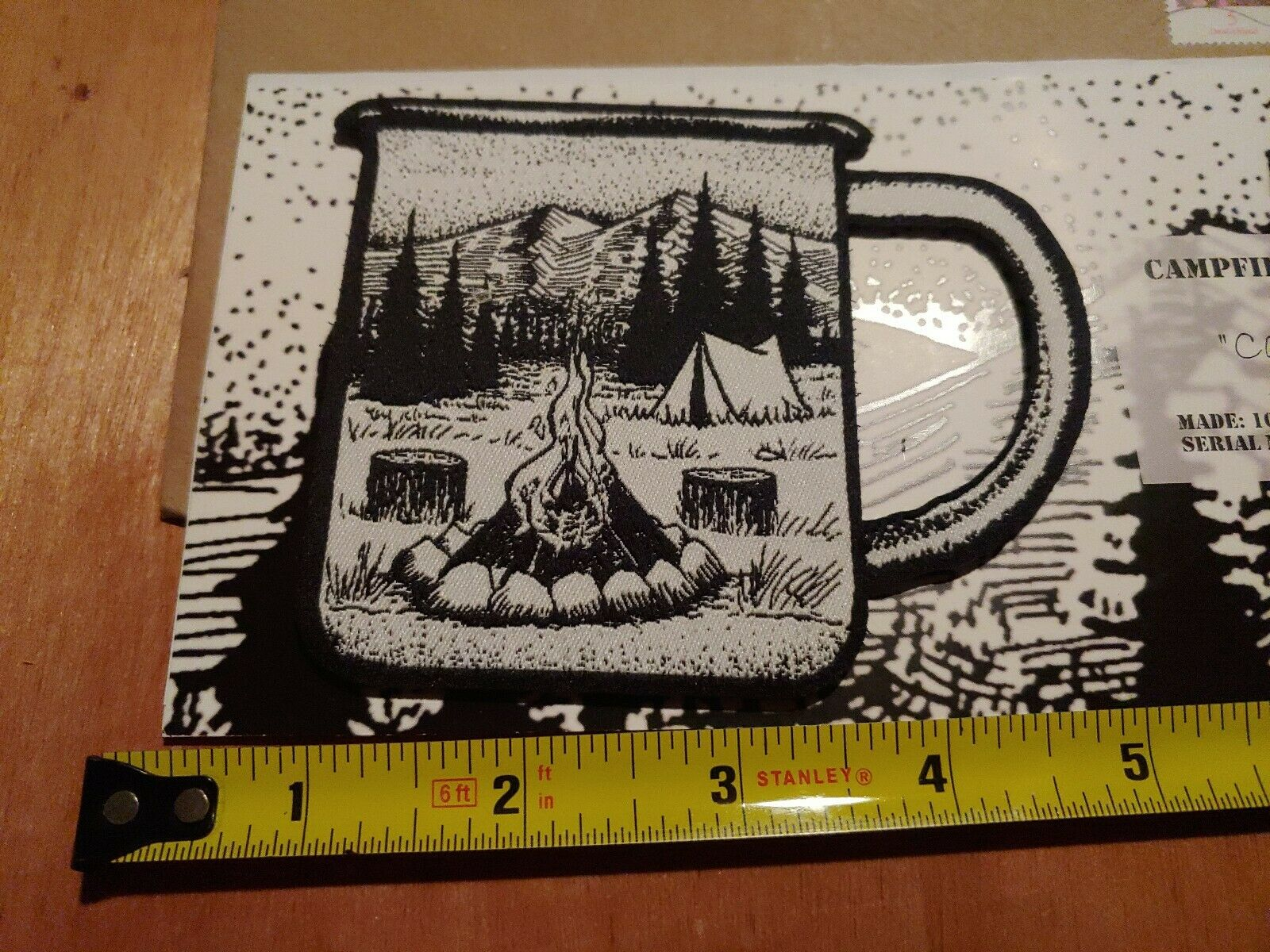 Campfire Coffee  Club Embroidered Morale Patch  enjoying your shopping