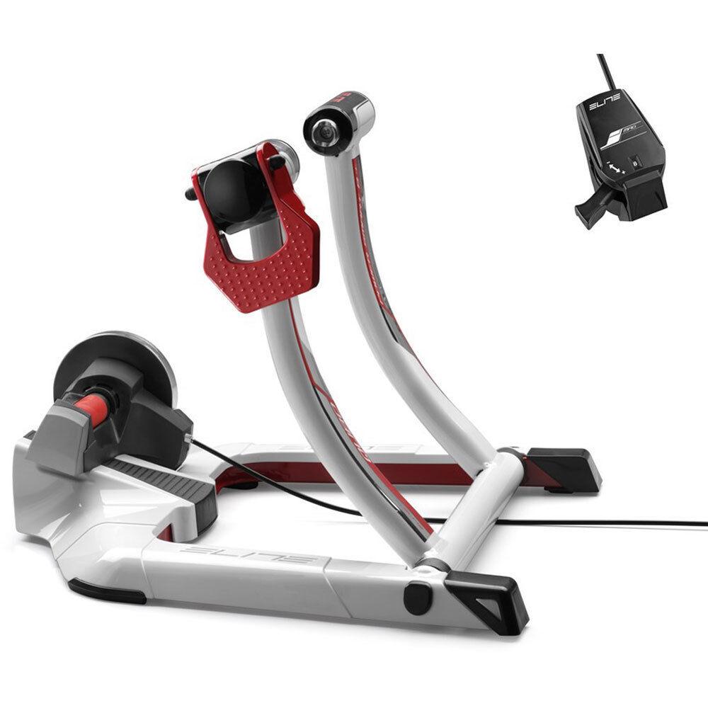 Elite Heimtrainer Qubo Power Smart B+ Smarttrainer weiss Fahrrad