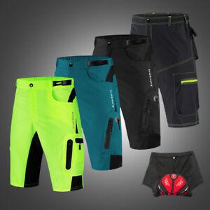 Men-039-s-Baggy-Cycling-Shorts-Riding-MTB-Bike-Padded-Underwear-Bicycle-Half-Pants