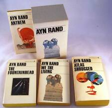 AYN RAND 4 Books Boxed Set Signet ATLAS SHRUGGED THE FOUNTAINHEAD ANTHEM NICE!