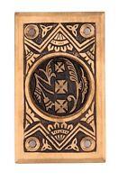 Oriental Rectangular Pocket Door Handle Bronze Eastlake