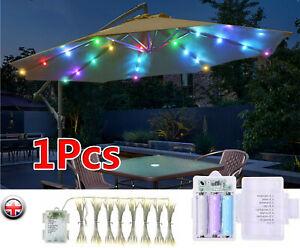 104 LED Umbrella Lights Outdoor Home Garden Patio Table Parasol Fairy Decor Lamp