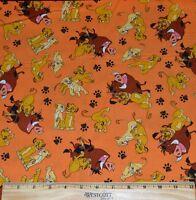 Lion King Fabric 1/2 Yard For Quilting Simbanalapumba Africasafaridisney
