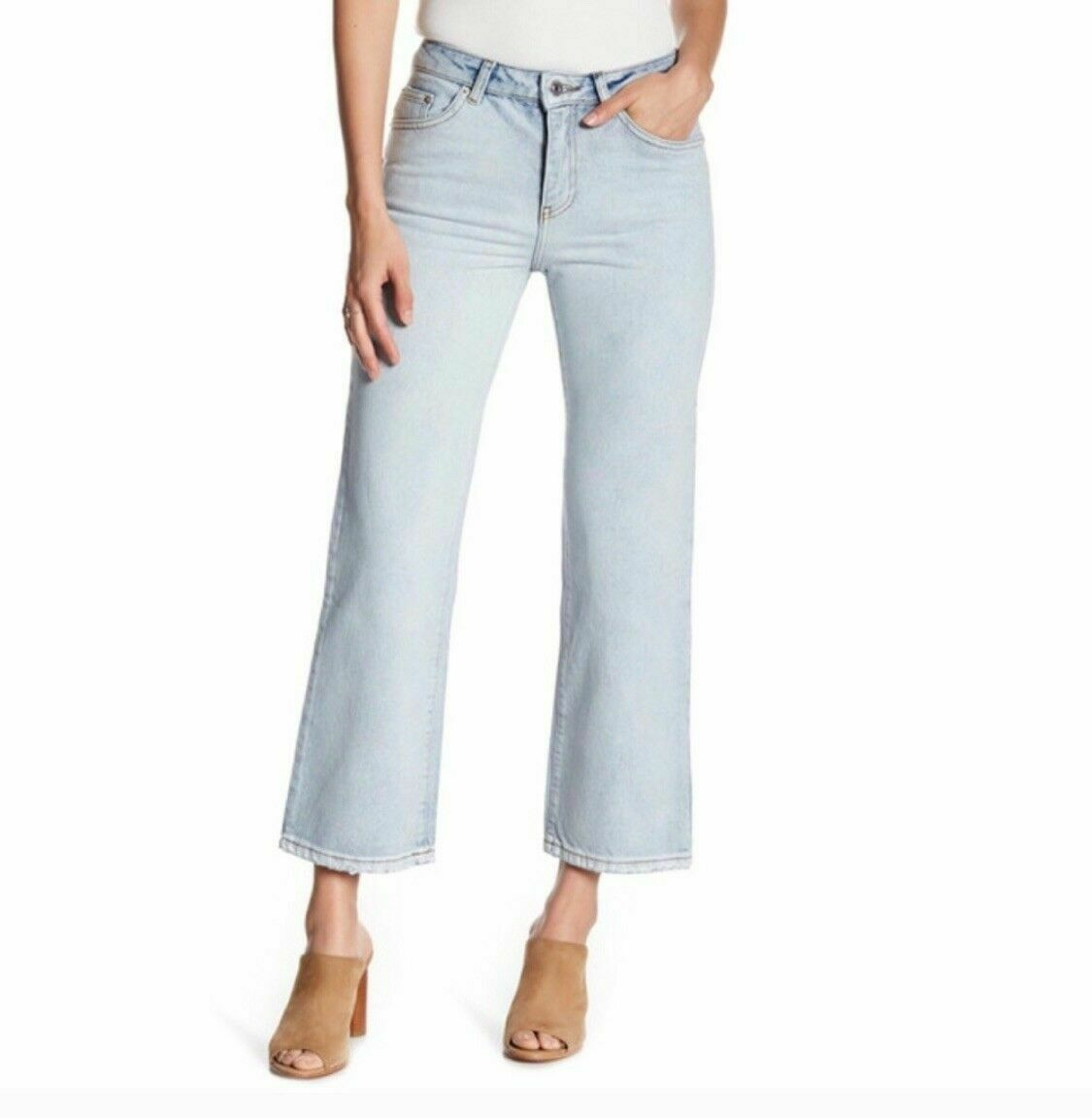 NWT SINCERELY JULES Women's Cropped Flare Jeans Size 29 NEW
