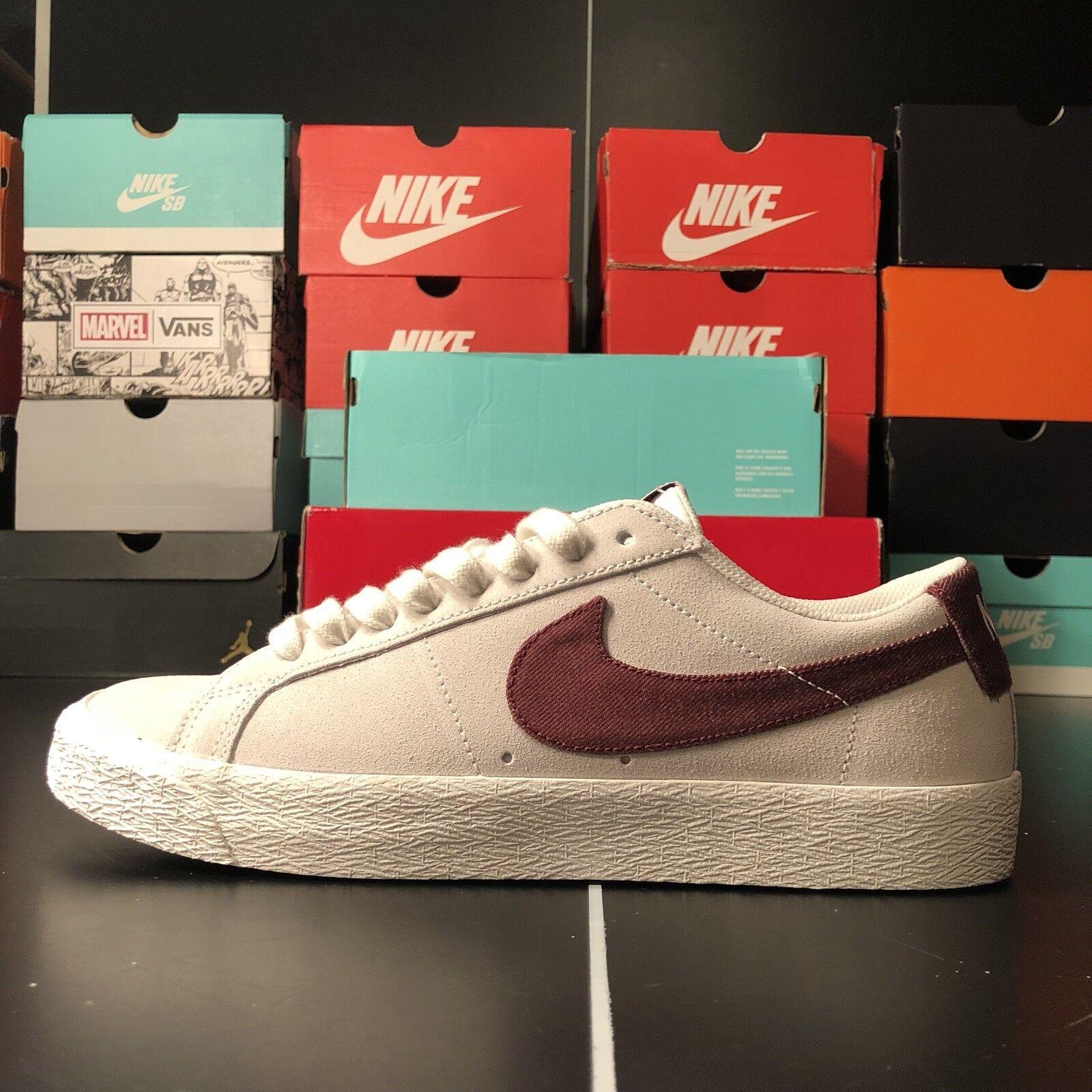 Nike SB - Blazer Low | Mens Skate Shoes {864347-169} White,Red Men's Size 9.5
