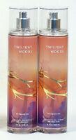 2 Bath & Body Works TWILIGHT WOODS Fine Fragrance Mist Spray