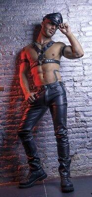Selbstlos Leder Jeans Lederjeans Leather Jeans Motorradjeans 100% Rindsleder Biker ☠️ Gay Auf Der Ganzen Welt Verteilt Werden