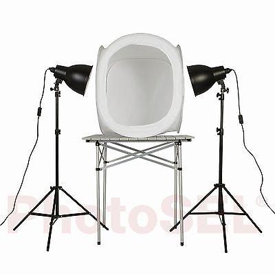 PhotoSEL LT144 60cm Velvet Light Tent Lighting Cube Softbox /& Four Backgrounds