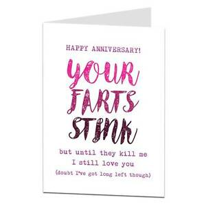 Funny anniversary card bf boyfriend husband humour cheeky joke ebay image is loading funny anniversary card bf boyfriend husband humour cheeky m4hsunfo