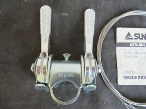 SUNTOUR-5-6-SPEED-SHIFTERS-ROAD-BICYCLE-SHIFT-LEVERS-STEM-FRICTION-NOS