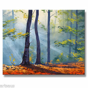 AUTUMN-FOREST-PAINTING-IMPRESSIONIST-GREEN-TREES-LANDSCAPE