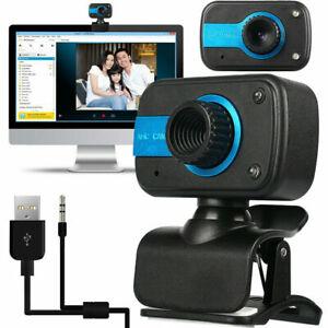 HD USB Web Camera Webcam Video Recording w/ Microphone 30 fps For Laptop Desktop