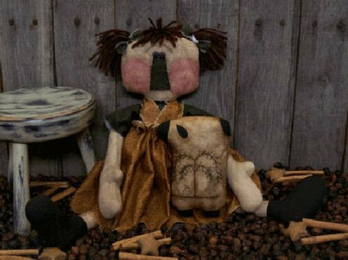 PATTERN Primitive Raggedy Ann Doll w// Stitchery Sheep UNCUT Threadbare Prims