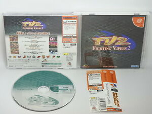 Dreamcast-FIGHTING-VIPERS-2-FV2-GOOD-Condition-Ref-116-SEGA-dc