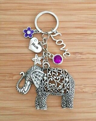 Affidabile Elephant Charm Keyring For Mum Sister Nan Nanny Auntie Birthday Gift For Her Durevole In Uso