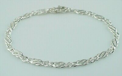 Gutherzig 925 Sterling Silver Flat Celtic Style Bracelet 7 Inches