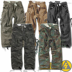 Surplus-Vintage-Fatigues-Mens-M65-Combat-Cargo-Trousers-Camo-Army-Military-Work