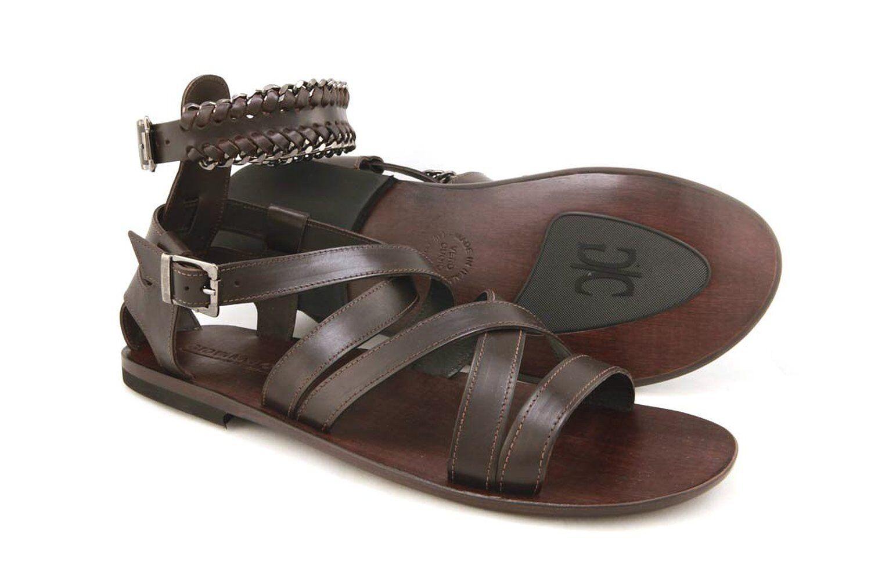 Giovanni Conti 703 Men's BROWN Leather Strappy Sandals