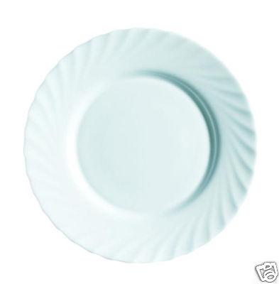 6x luminarc trianon White Dîner Plate 25 cm Food service