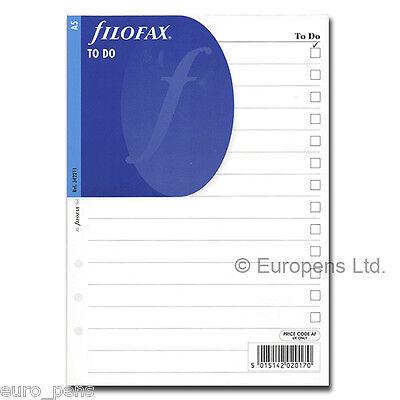 Filofax A5 Organiser Paper Inserts Refills