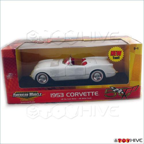 1953 CHEVY  CORVETTE Blanc Anniversaire collection ERTL  marque de luxe