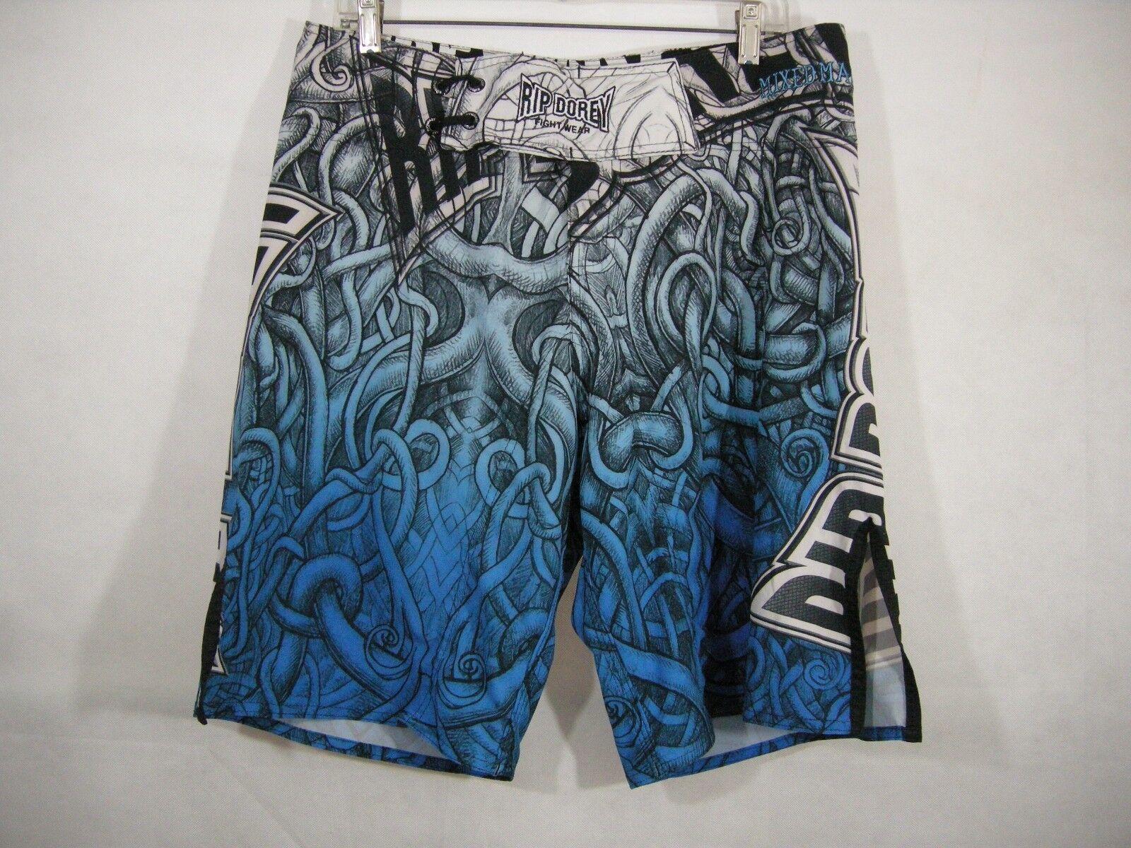 Shorts MMA  Fightwear Rip Dorey Brazilian bluee 34W Mixed Martial Arts Fight Wear  online sale