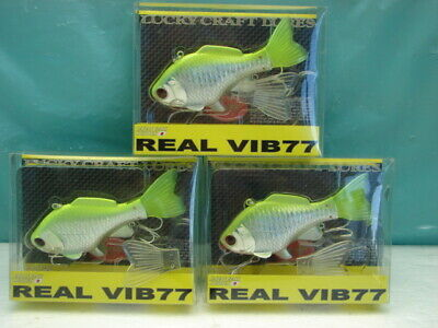 LOT OF 2 Lucky Craft REAL VIB77 1 Ounce HARD TO FIND COLOR CRANKBAIT LURE LOT