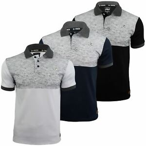 Mens-Polo-T-Shirt-by-D-Rock-Short-Sleeved