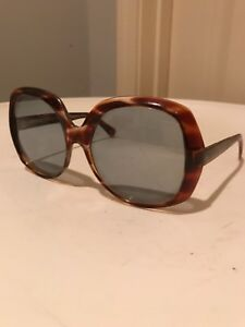 Vtg-1960-70s-Bug-Eyes-Ladies-or-Unisex-Tortoise-Shell-Sunglasses-Mod-Hippie