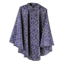 Totes Poncho in tessuto con tasca separata Blu Scuro Stampa Batik