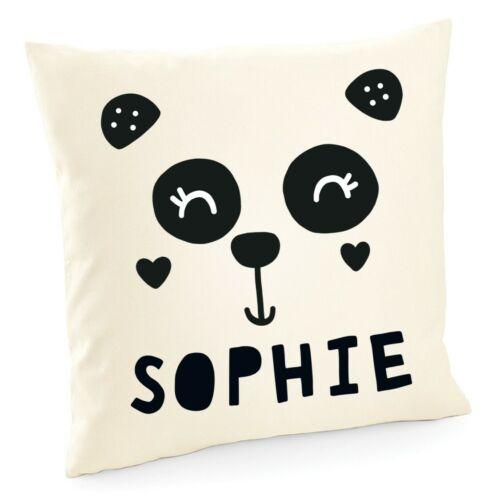 Personalised Name Panda Cushion Printed Customised Bedroom Kids Gift Present