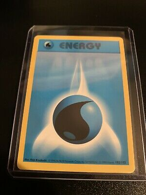 Pokemon Base Set Shadowless Card 102//102 Water Energy Near Mint