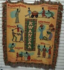 Kwanzaa ~ African American Heritage Tapestry Afghan Throw