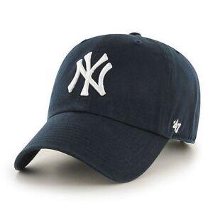 3abdb462c26 47 Brand New York Yankees Adjustable Clean Up Dad Hat Cap Navy MLB ...