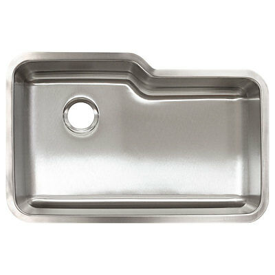"""Kitchen Sink Undermount Stainless Steel 32"""" x 9"""" Deep by LessCare L108"""
