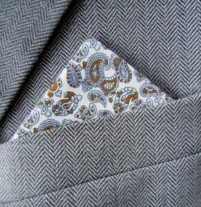 SUPERNOVA Leopard Black /& Gold Pocket Square Handkerchief Scooter Mod Indie 60s