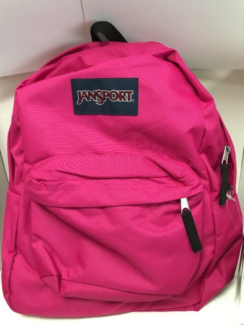 sold worldwide official store release date JanSport Superbreak Backpack Grey Cyber Pink 100 Authentic