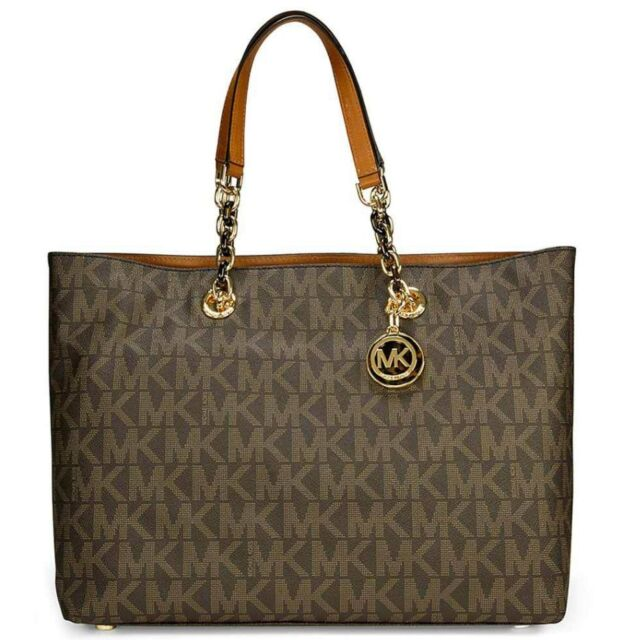 a7608282d4c NWT MICHAEL Michael Kors Large Cynthia Tote 30T4TCYT3B in Brown  378 From  Macys